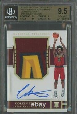 2018-19 National Treasures FOTL Collin Sexton RC 3-Color Patch AUTO /20 BGS 9.5