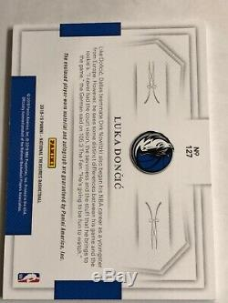 2018-19 National Treasures LUKA DONCIC 3 COLOR AUTO PATCH RC #17/49 RPA #127