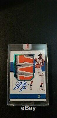 2018-19 National Treasures MITCHELL ROBINSON AUTO 4 Color PATCH RC BLUE 2/3
