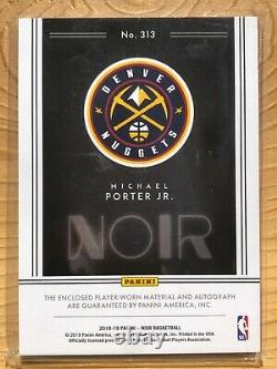 2018-19 Noir Michael Porter Jr Rookie Black & White 3 Color RC Patch Auto 79/99