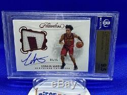 2018-19 Panini Flawless Collin Sexton Rookie 2 color Patch Auto #/15 BGS 9.5/10