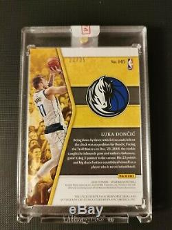 2018 -19 Panini, Luka Doncic Opulence RPA, 3 color patch, #25, on card auto, RC