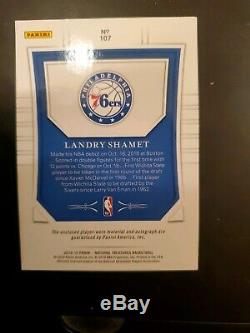 2018/19 Panini National Treasures Landry Shamet RC Auto Patch 3/3 RPA 3 Color