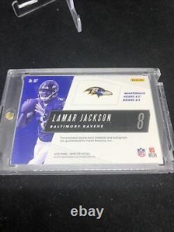 2018 Absolute Lamar Jackson RPA #/49 4 Color Patch Auto RC Baltimore Ravens