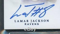2018 Flawless Lamar Jackson Rookie RC 5-Color Patch Auto RPA /3 BGS 9.5 Gem Mint