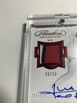 2018 Flawless Performances Teen Goes deep Juan Soto Auto 3 Color Patch 02/20