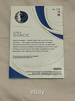2018 Immaculate Collection Luka Doncic ROOKIE RC PATCH AUTO /99 3 Color Patch