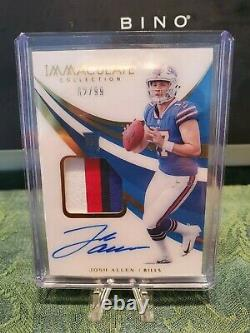 2018 Immaculate Football Josh Allen Rookie Patch Auto /99 SSP 4 color patch RC