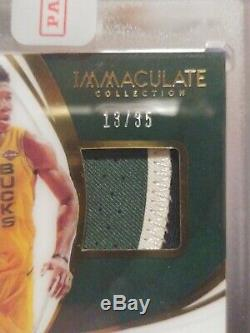 2018 Immaculate Giannis Antetokounmpo On Card Auto Tri-Color Game Worn Patch /35