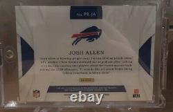 2018 Immaculate Josh Allen Premium Rookie Patch Auto /99 4 Color RPA Bills