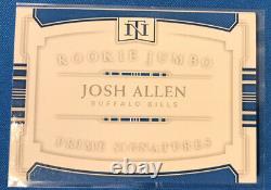 2018 Josh Allen National Treasures Booklet RC 4 Color Patch Auto 03/99 Bills
