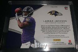 2018 Limited Lamar Jackson 4 Color Auto Patch Rookie Card RC #18/25 On Card MVP
