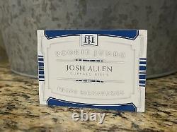 2018 National Treasures Josh Allen Jumbo Booklet RPA 4-Color Patch AUTO /99