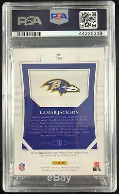 2018 National Treasures Lamar Jackson RPA RC 5-Color Patch AUTO /10 PSA 10 Pop 1