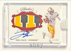 2018 Panini Flawless JOSH ALLEN Jersey #17/20 Rookie 3 Color Patch Auto! Sealed