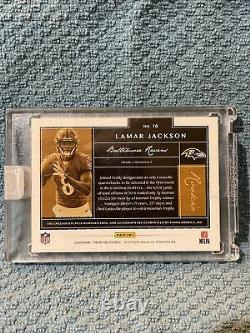 2018 Panini One Lamar Jackson 2 Color Jersey Patch Auto Rookie Factory sealed