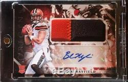 2018 Panini Origins BAKER MAYFIELD Rookie Patch RC AUTO 2 Color Patch SSP BROWNS