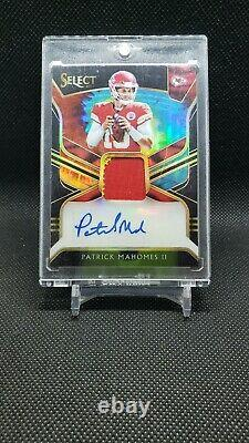2018 Panini Select Patrick Mahomes Tie Dye 2 Color Patch Auto 1/7 2nd Year