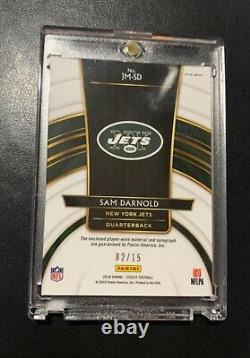 2018 Sam Darnold Panini Select Tie Dye 2 Color Patch RPA Rookie Auto #/15