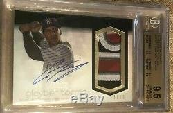 2018 Topps Dynasty GLEYBER TORRES Rookie RC 4 Color Patch Auto GAME RPA BGS 9.5