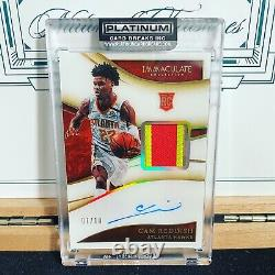 2019-20 Immaculate Cam Reddish 3-Color Rookie Patch Auto Gold /10