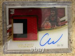 2019-20 Immaculate Coby White RPA 3 Color Patch Auto 39/50