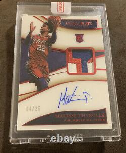 2019-20 Immaculate Matisse Thybulle Premium Red 3-Color RPA PATCH AUTO /25 RC