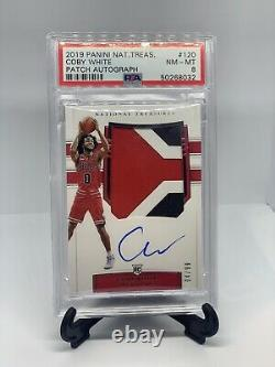 2019-20 National Treasures Coby White RPA RC Rookie 3-Color GU Patch AUTO 4/99
