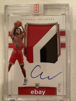 2019-20 National Treasures Coby White RPA RC Rookie 3-Color Patch AUTO #47/99