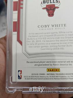 2019-20 National Treasures Coby White RPA RC Rookie 3-Color Patch AUTO /99
