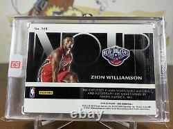 2019-20 Noir Zion Williamson Rookie Patch Auto RPA RC Autograph 3 Color /49