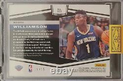 2019-20 Panini Obsidian Zion Williamson 3 Color Patch Auto #d 15/15 GREEN RC SSP
