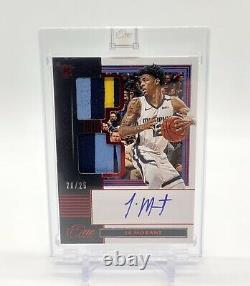 2019-20 Panini One And One Ja Morant Rare Red RC Auto 3 Color Patch RPA /25