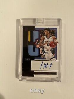 2019-20 Panini One & One Ja Morant RC AUTO 4 Color Patch 27/35, LOOKS PERFECT