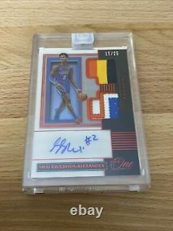 2019-20 Panini One and One SHAI GILGEOUS-ALEXANDERFIVE Color Patch AUTO 15/25