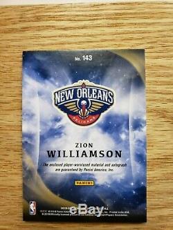 2019/20 Panini Origins Zion Williamson 3 COLOR LOGO Auto Jersey Patch RC 13/25