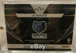 2019-20 Select Ja Morant PATCH AUTO ORANGE PULSAR RPA 6/8 4 break 3 color patch