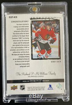 2019-20 Upper Deck ICE Exquisite Auto Materials KIRBY DACH #/5 5 Colour Patch