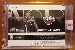 2019-20 Zion Williamson Noir B&W RPA RC Rookie 3-Color Patch AUTO /49