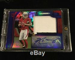 2019 CERTIFIED KYLER MURRAY MIRROR BLUE RPA 2 COLOR PATCH AUTO RC #d 08/49
