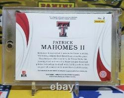 2019 Immaculate Collegiate Patrick Mahomes II On Card Patch Auto 3 Color! Chiefs