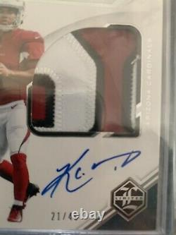 2019 Limited Kyler Murray Rookie Patch Auto RPA /49 Cardinals RC- 3 Color Patch
