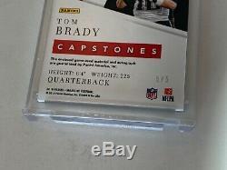 2019 Majestic Capstones Auto Tom Brady #CP-TB, 5/5. On card AUTO-3 Color Patch