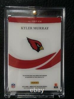 2019 Panini Immaculate Kyler Murray 3 color dual patch rookie auto #/35