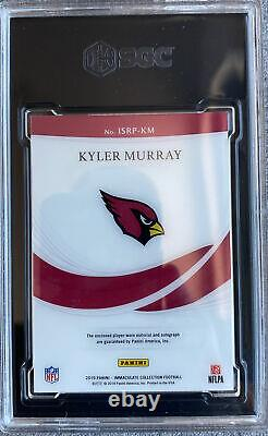 2019 Panini Immaculate Kyler Murray RC RPA Auto 27/35 3 Color Patch SGC 9.5 10