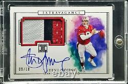 2019 Panini Impeccable Steve Young Extravagance 3-Color Patch Auto /10 49ers