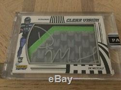 2019 Panini Instant Clear Vision DK Metcalf 3 Color Patch Auto #1/1 Seahawks