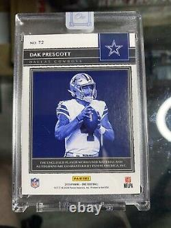 2019 Panini One DAK PRESCOTT Patch On-Card Auto #4/10 Jersey Numbered! 3 Color