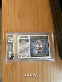 2019 Panini One Tom Brady Quad 4 Color Patch Auto /7 Game Used PSA 9 Mint Wow