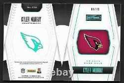2019 Panini Playbook Kyler Murray Rookie Auto /49 ON CARD 2-COLOR PATCH HOT MVP